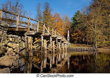viejo, norte, puente
