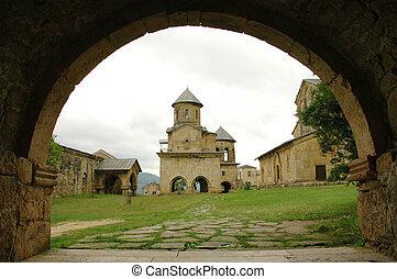 viejo, ortodoxo, gelati, monasterio