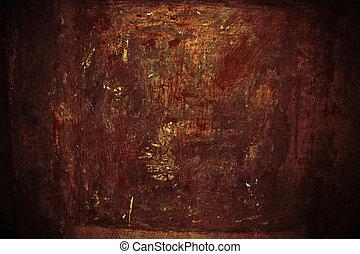 viejo, oxidación, textura