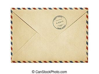 viejo, papel, aire, poste, envíe, aislado, blanco