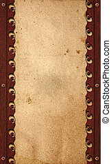 viejo, papel, en, madera, plano de fondo, o, textura