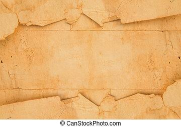 viejo, papel, plano de fondo