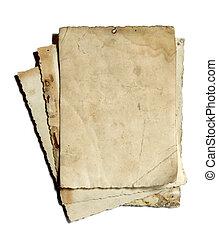 viejo, papel