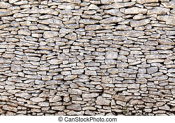 viejo, pared de piedra