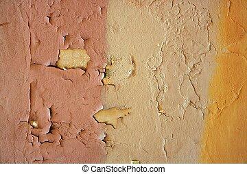 viejo, pared, pintura, plano de fondo, grunge, viejo