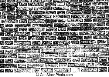 viejo, pared, textura, áspero, plano de fondo, ladrillo, ...
