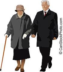 viejo, pareja