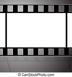 viejo, película, filmstrip., frame., conclusión
