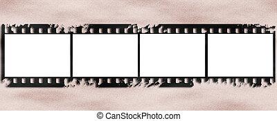 viejo, película, plano de fondo, tira
