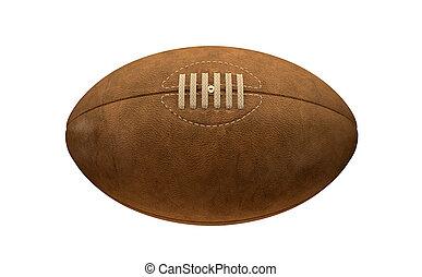 viejo, pelota, rugby, retro, clásico