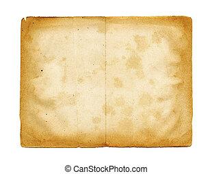 viejo, pergamino, papel, textura