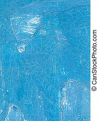 viejo, pintado, pared azul
