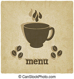 viejo, plano de fondo, con, café