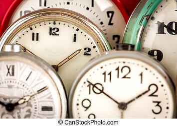 viejo, plano de fondo, reloj