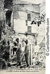 viejo, postal, 11, junio, lambesc, 1909, terremoto