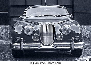 viejo, prestigious, coche, hermoso