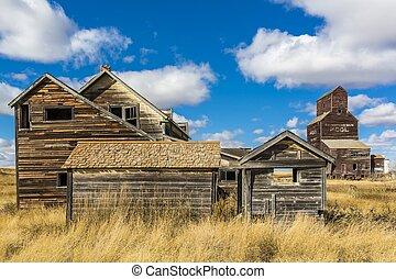 viejo, pueblo fantasma