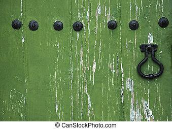 viejo, puerta de madera
