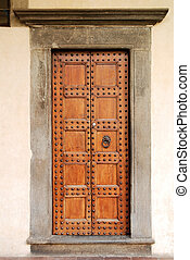 viejo, puerta, florencia