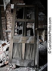 viejo, puerta