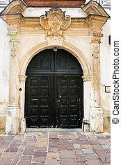 viejo, puertas, en, krakow, polonia