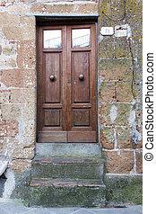 viejo, puertas