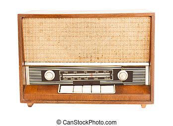 viejo, radio, vendimia, estilo