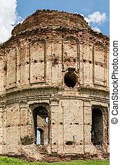 viejo, ruinas, de, chiajna, monasterio