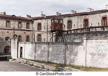 viejo, soviético, tallinn, prisión