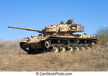 viejo, tanque, de, guerra