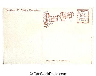 viejo, tarjeta de felicitación, de, estados unidos de...