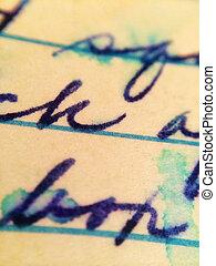 viejo, tearstained, carta