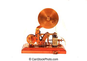 viejo, telégrafo, (communication, machine)