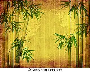 viejo, textura, papel, plano de fondo, grunge, bambú