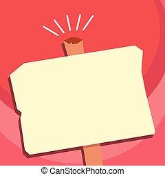 viejo, uno, forma, diseño, blanco, disposición, resistido, esp, aislado, plantilla, vacío, publicidad, plano, empresa / negocio, poste indicador, ilustración, halftone, geométrico, minimalista, gráfico, vector, estante