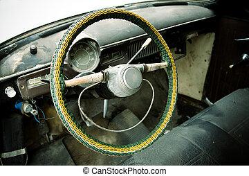 viejo, vehículo
