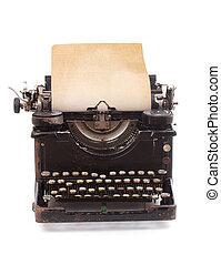 viejo, vendimia, máquina de escribir
