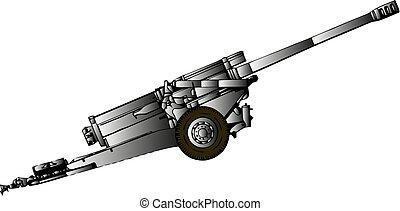viejo, vendimia, trench., arma de fuego, machinegun, máquina, position., cañón, mundo, 2., soviético, guerra