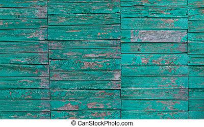 viejo, verde, tabla