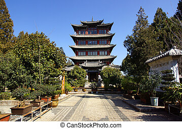 viejo, yunnan, china, lijiang, ciudad