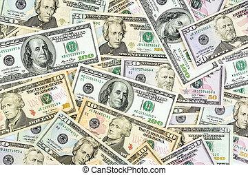 viele, rechnungen, dollar