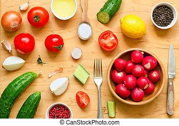 vielfalt, gemuese, salat