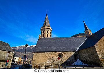 Vielha Viella church Sant Miqueu in Lerida