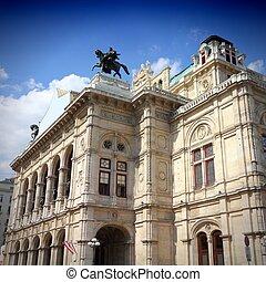 viena, -, casa de ópera