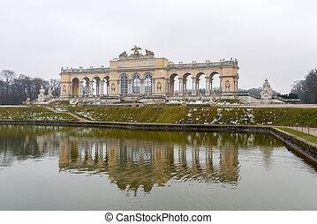 viena, jardim, palácio, schonbrunn, gloriette, áustria