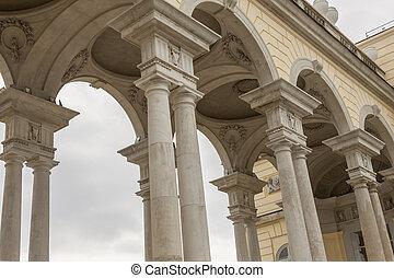 viena, palácio schonbrunn, gloriette, áustria, estrutura, vista