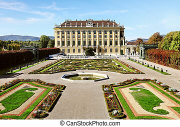viena, palacio, schonbrunn, austria, hermoso