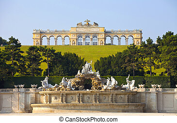viena, schonbrunn, jardines, palacio