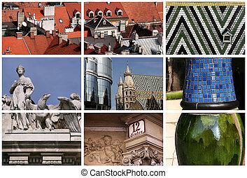 viena, señales, collage