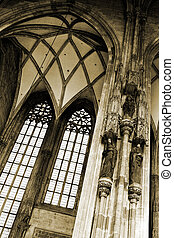 Vienna #55 - The inside of the st Stephens DOM in Vienna,...